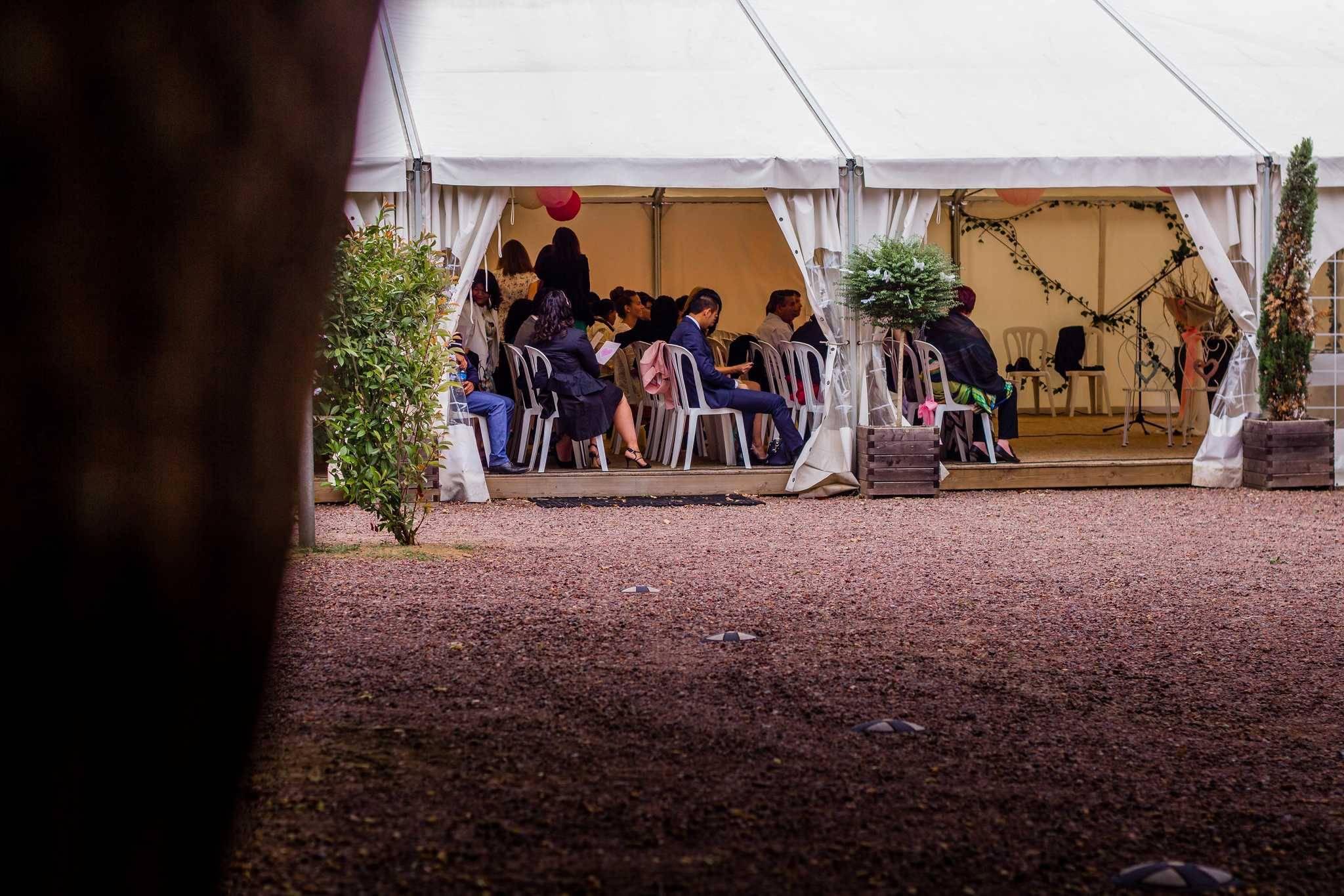 Cérémonie de mariage au jardin du Clos talanconnais