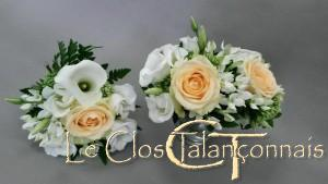 bouquets-demoiselles-d-honneur-roses-saumon-bouvardia-lysianthus