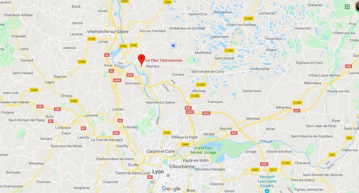 plan-carte-le-clos-talanconnais-reyrieux-trevoux-villefranche-lyon